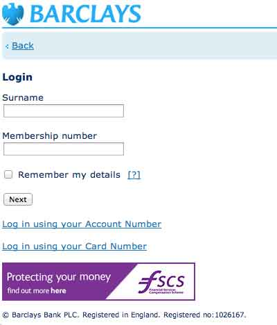 Login Ibank Barclays