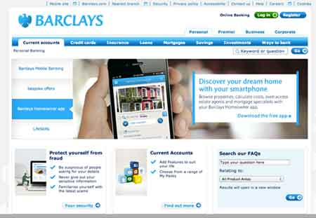 Online banking Barclays