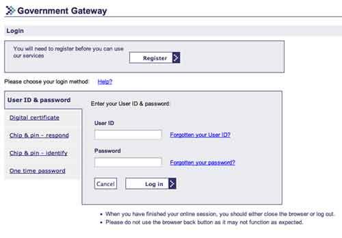 Login gateway.gov