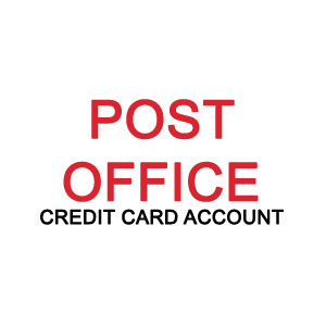 Post office credit card