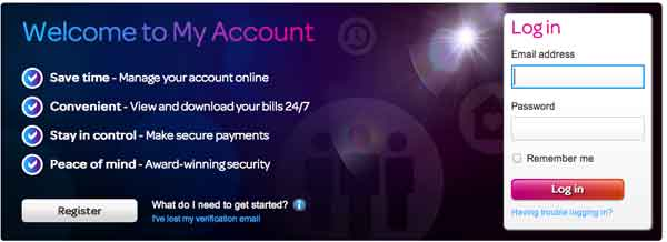 Register my account tiscali
