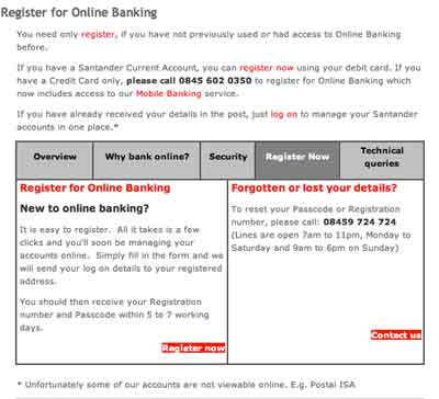 Santander online banking log on create a new account in santander online banking log on reheart Gallery