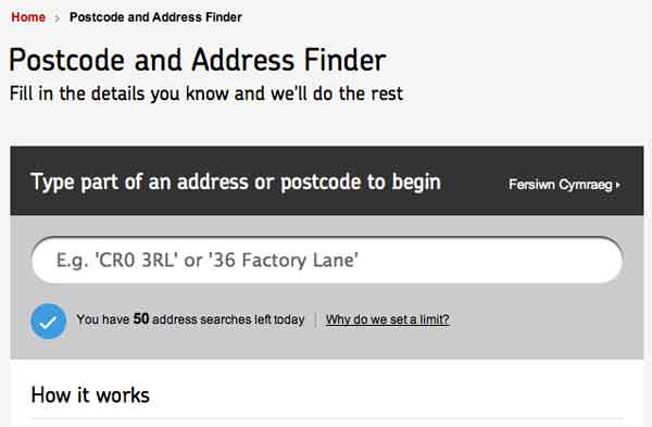 """The same e-mail address can be used if you are registering a change of address for a business, or if you need to notify the Royal Mail of a brand new building, be that private or commercial. You might ask why it is showing as """"Smarter S E O"""" and this is due to the way in which their system registers addresses."""