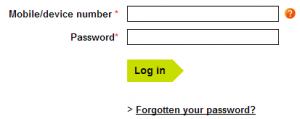 Access to your Three's account