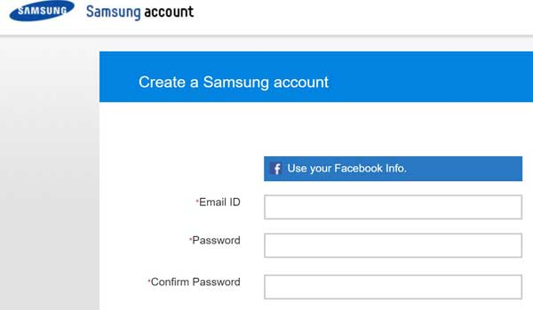 Samsung sign-up