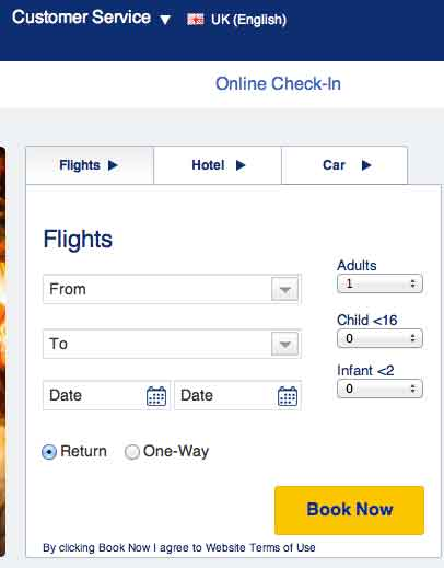Ryan air check-in