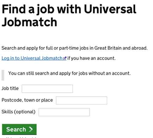 Jobcentre finder