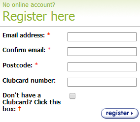 Create yout Tesco account