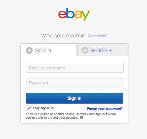 My Ebay Account Sign In Pages Ebay Com