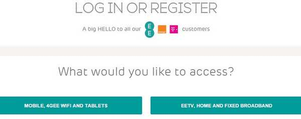 My EE Account Sign up or register